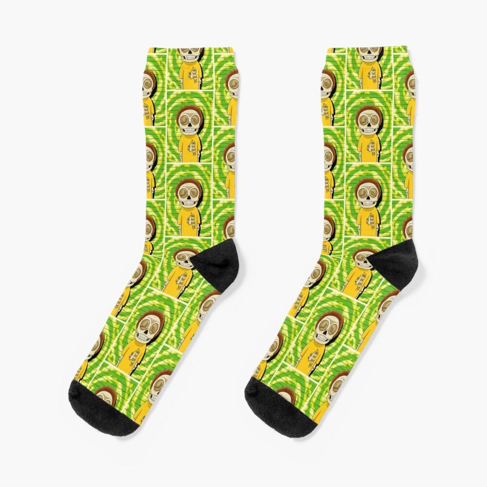 morty  rick and morty skull Socks