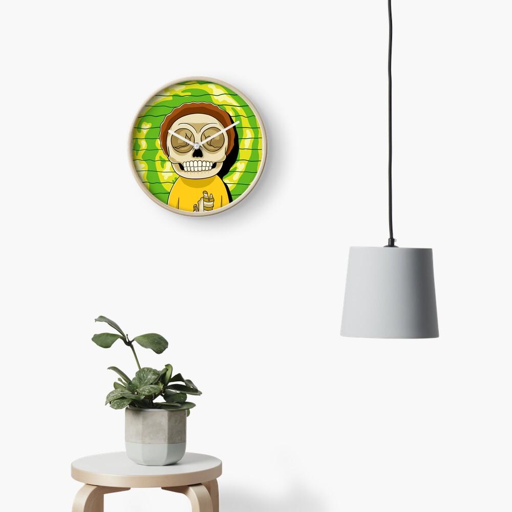 morty  rick and morty skull Clock