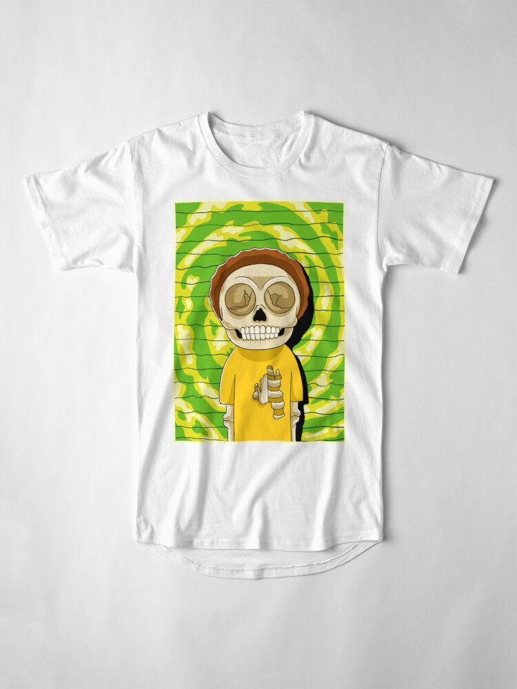 Alternate view of morty  rick and morty skull Long T-Shirt