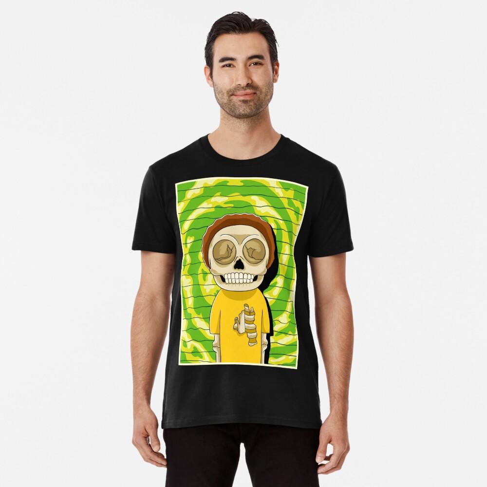 morty  rick and morty skull Premium T-Shirt