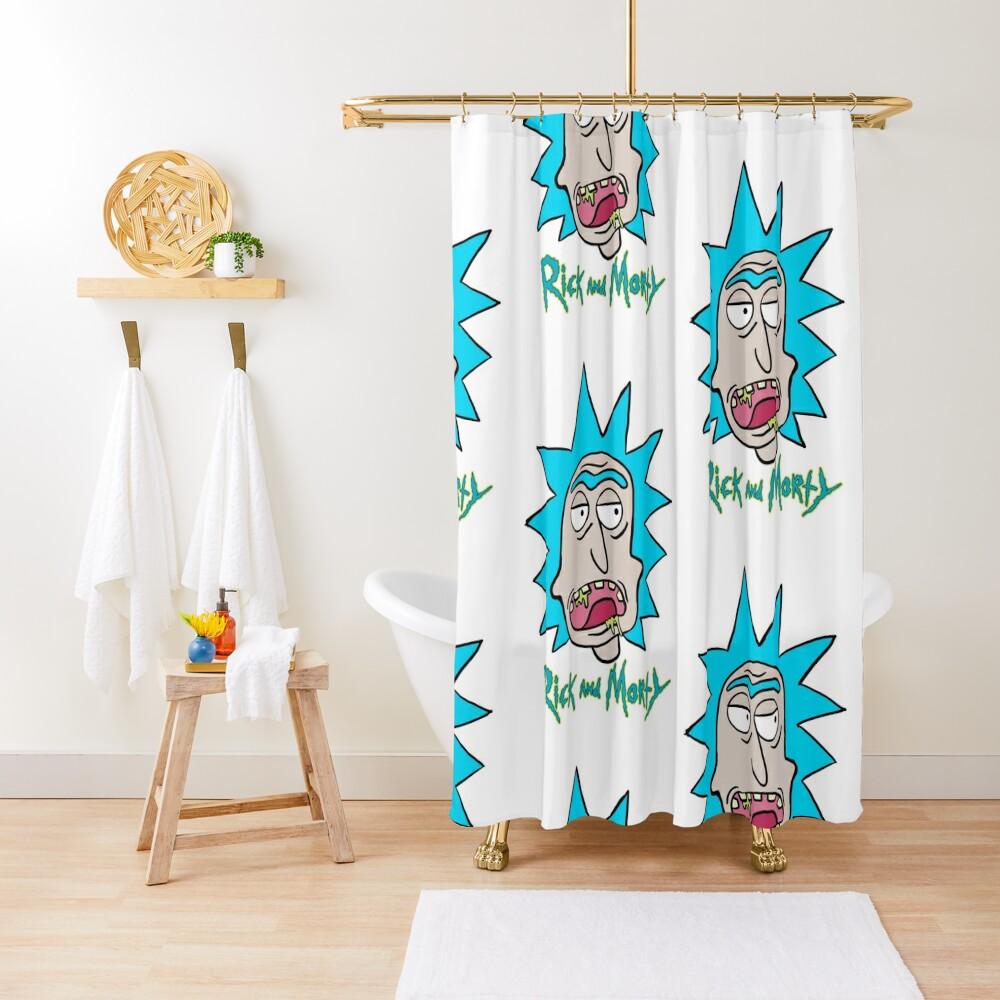 Slobber Rick Shower Curtain