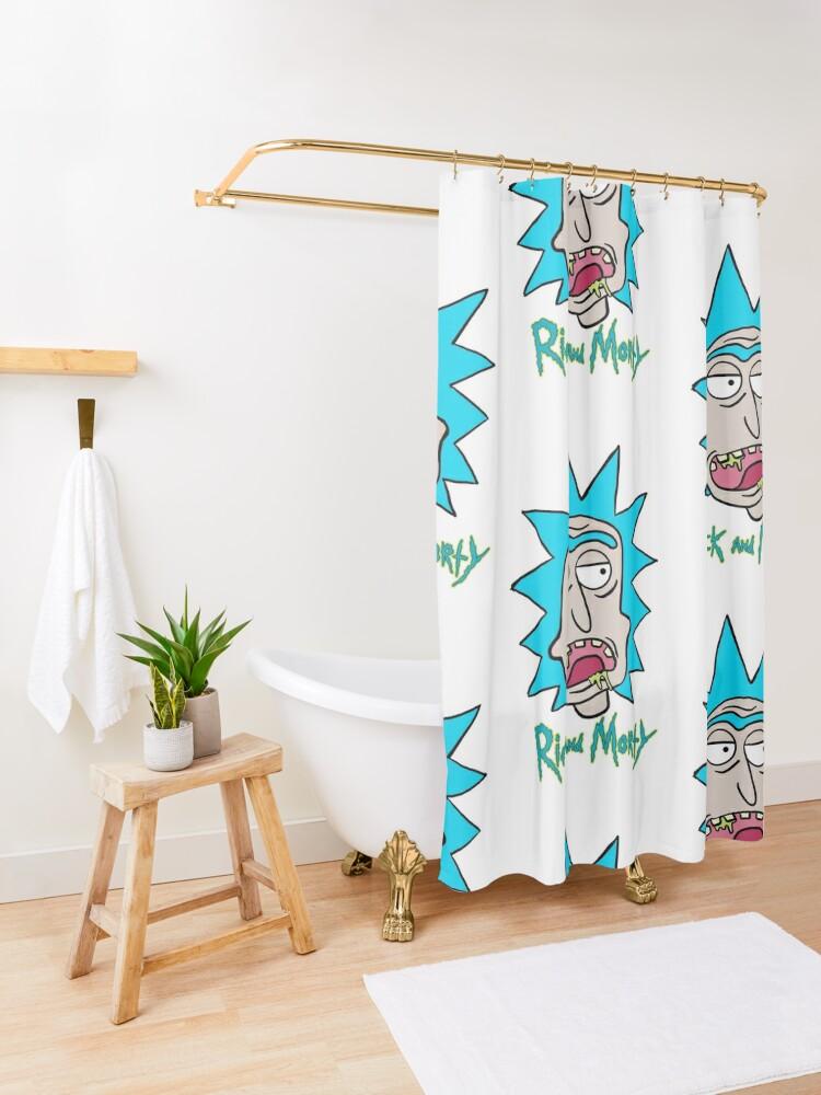 Alternate view of Slobber Rick Shower Curtain