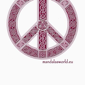 Celtic Peace Symbol Garnet by Phylosoft