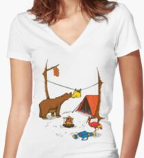 Bear and Bird Women's Fitted V-Neck T-Shirt