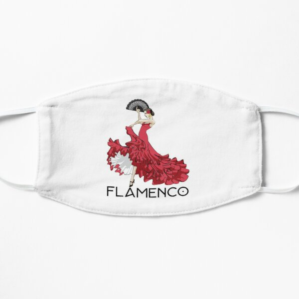 Flamenco Tänzerin Flache Maske