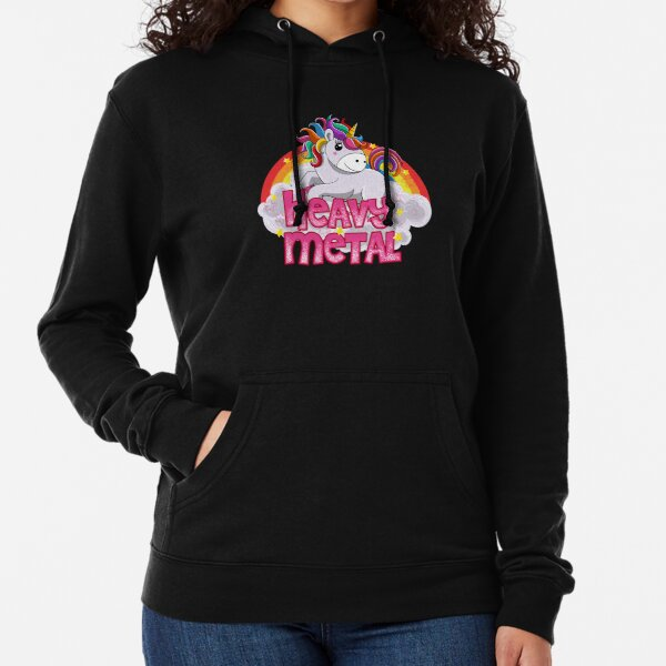 heavy metal unicorn  Lightweight Hoodie