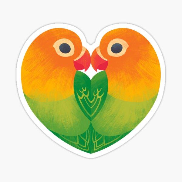 Lovebirds Sticker
