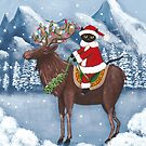 Merry Christmas Cat and Moose  by Ryan Conners