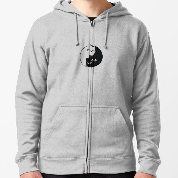 Cats Yin /& Yang Sweatshirt Capuche and Cat symbole FUN LOVE CHAT CHATS