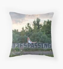 forgive us Throw Pillow