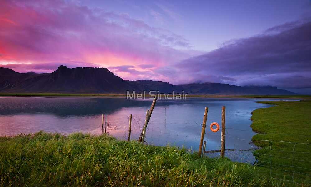 Arctic Sunset - Iceland by Mel Sinclair