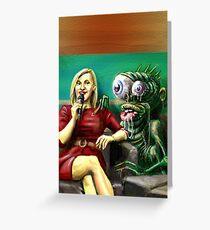 TV Alien Greeting Card