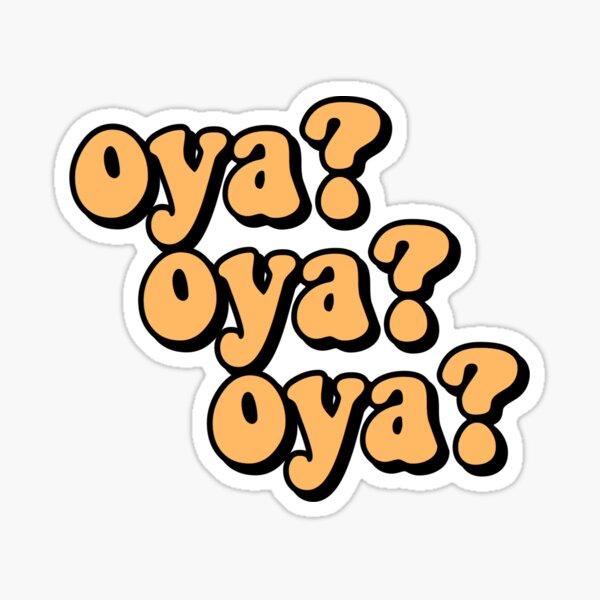 oya oya oya; haikyuu  Sticker