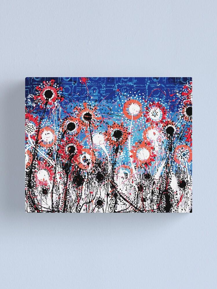 Alternate view of Explosive Flower Fields Canvas Print