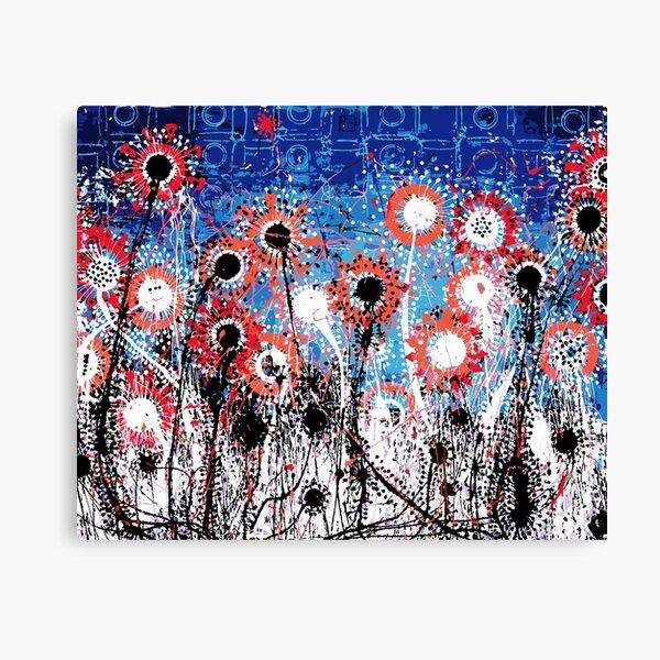 Explosive Flower Fields Canvas Print