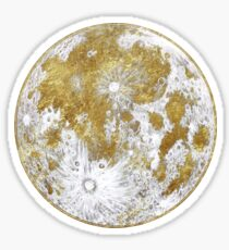 Golden Moon Pattern Sticker