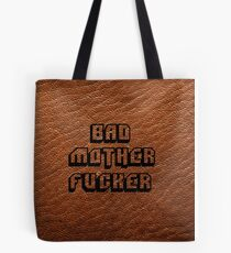 Bad Motherfucker Leather - Pulp Fiction Tote Bag