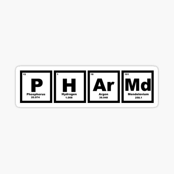 PharmD Periodic Table  Sticker