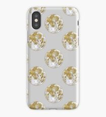 Golden Moon Pattern iPhone Case