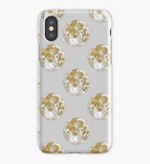 Golden Moon Pattern iPhone Case/Skin