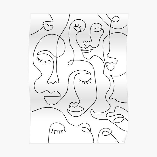 Visages abstraits Poster