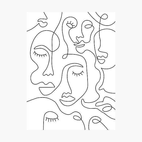 Abstract Faces Photographic Print