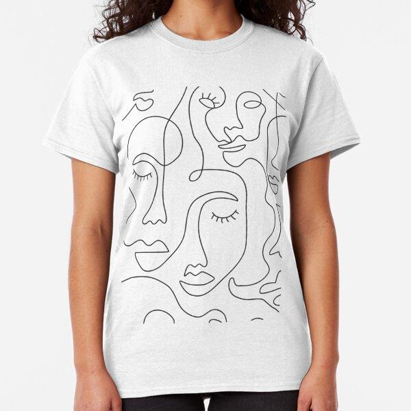 Caras abstractas Camiseta clásica
