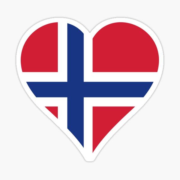 Norwegen Flagge Herz schwarz Sticker