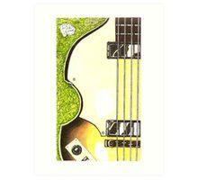 Hofner violin bass lefty Art Print