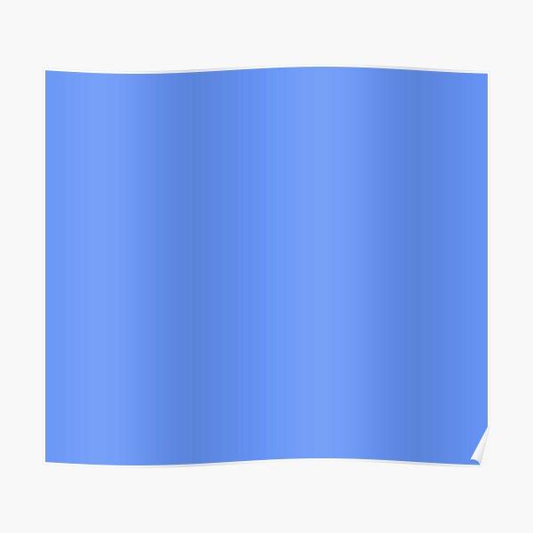 Cornflower Blue Plain Solid Color Poster