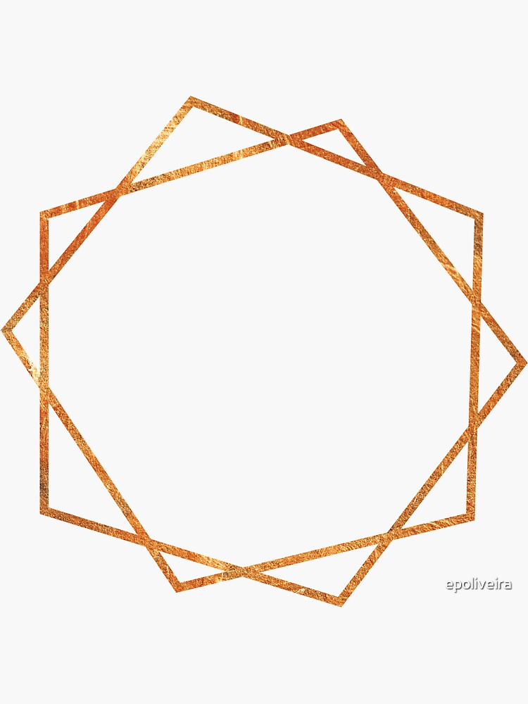 Golden Geometric Pattern by epoliveira