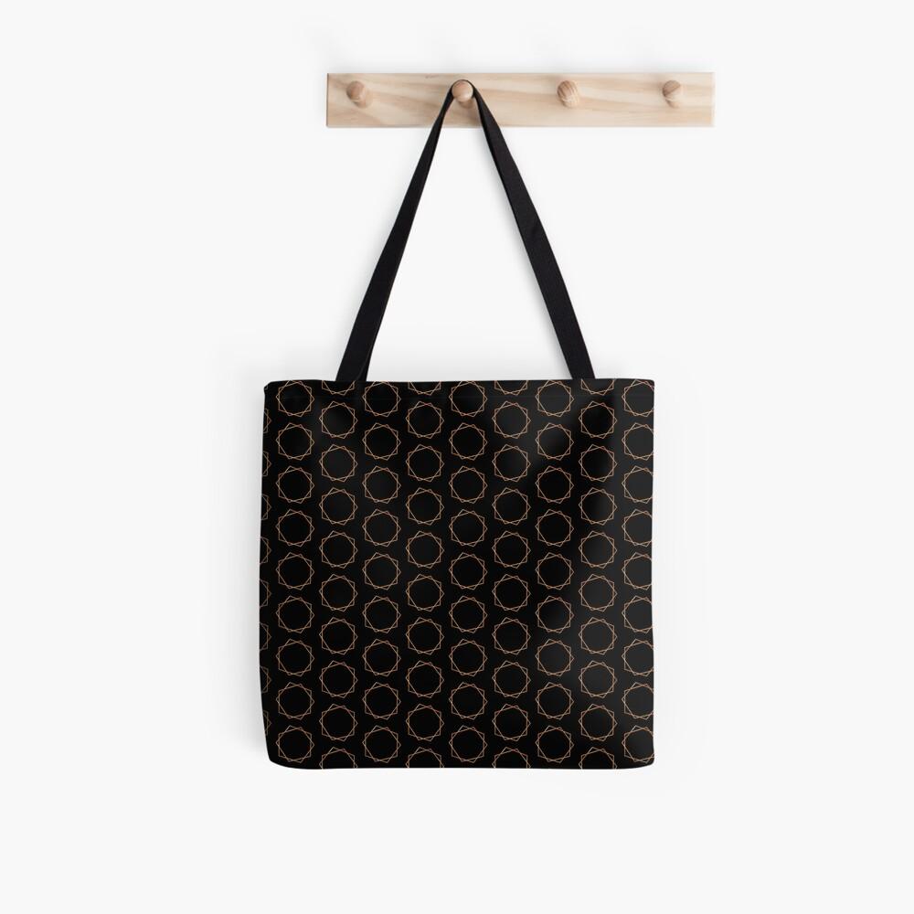 Golden Geometric Pattern Tote Bag