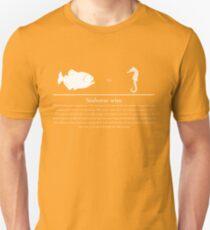 Seahorse vs Piranha Unisex T-Shirt