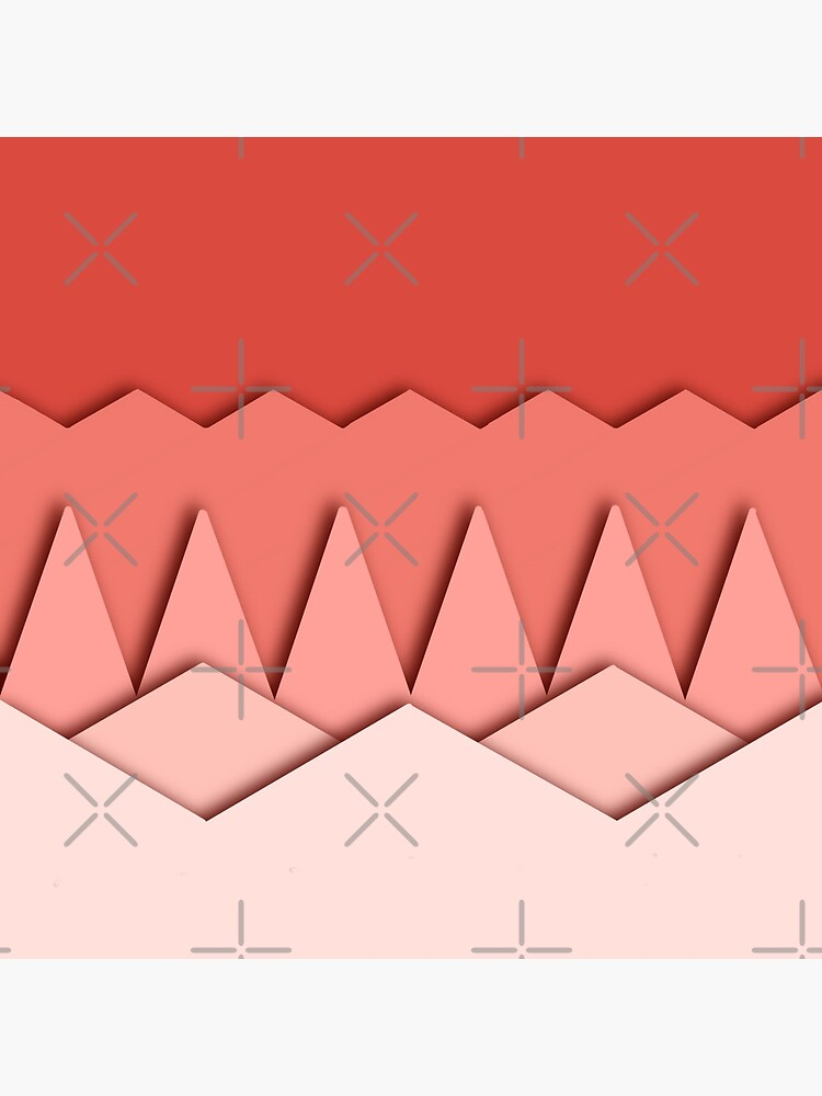 Pink origami like abstract pattern  by didssph