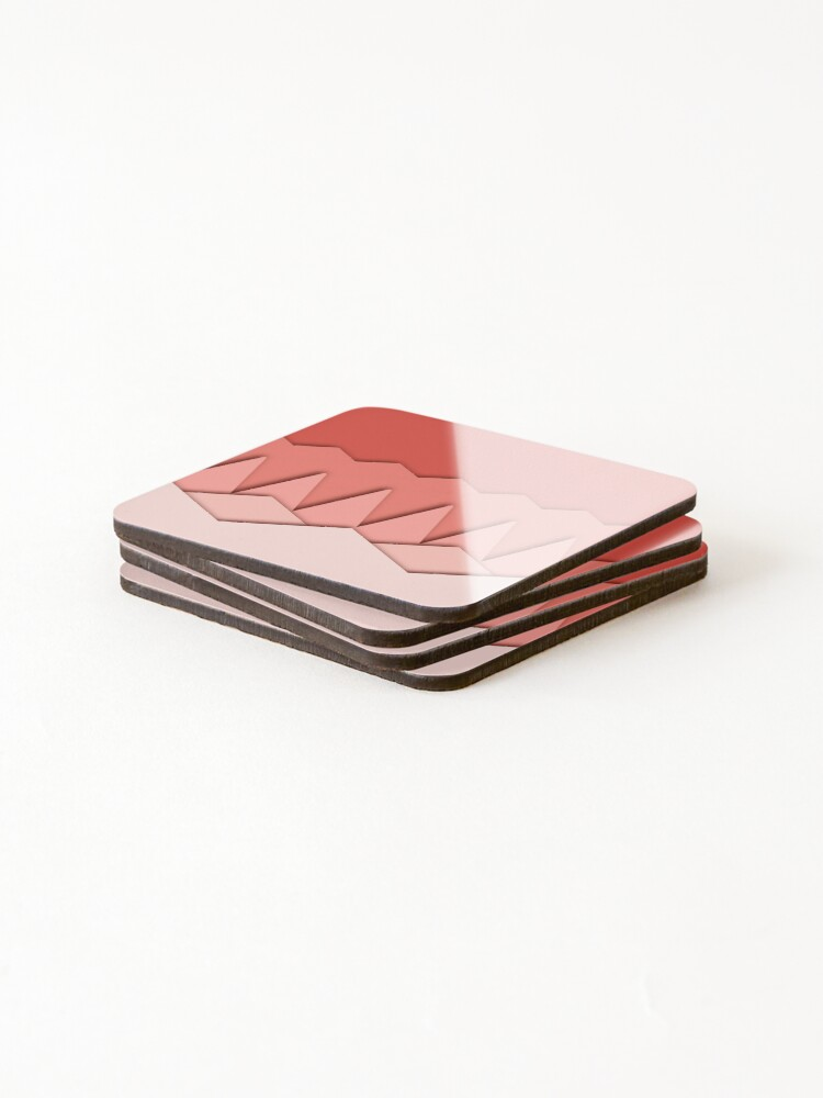Alternate view of Pink origami like abstract pattern  Coasters (Set of 4)