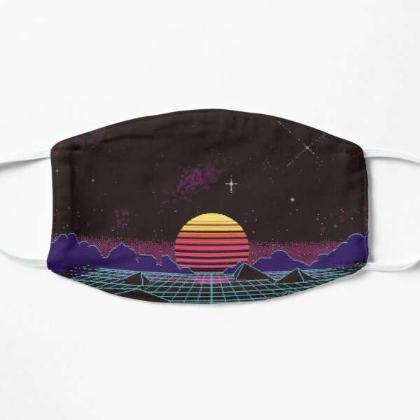 Outrun Sunset Mask