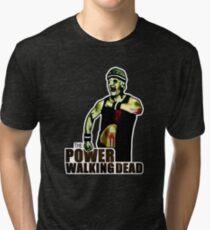 The Power Walking Dead (on Black) [iPad / Phone cases / Prints / Clothing / Decor] Tri-blend T-Shirt