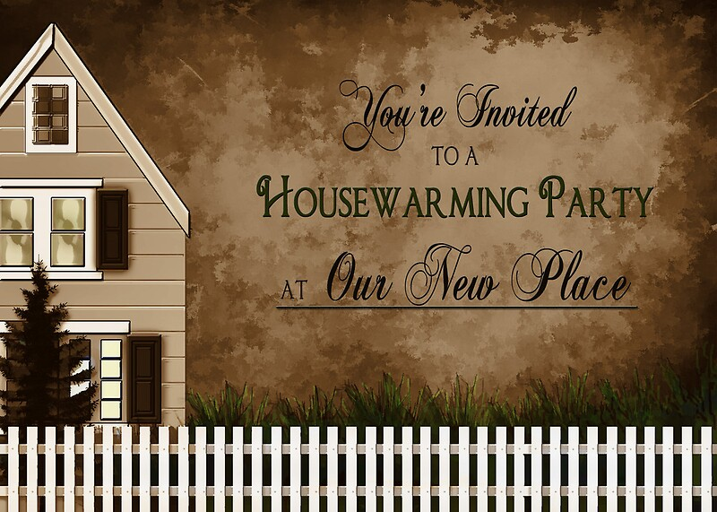 "Housewarming Invitation - Warmth"" Greeting Cards By Trudy"