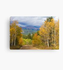 Rocky Mountain Scenic Autumn Drive Canvas Print