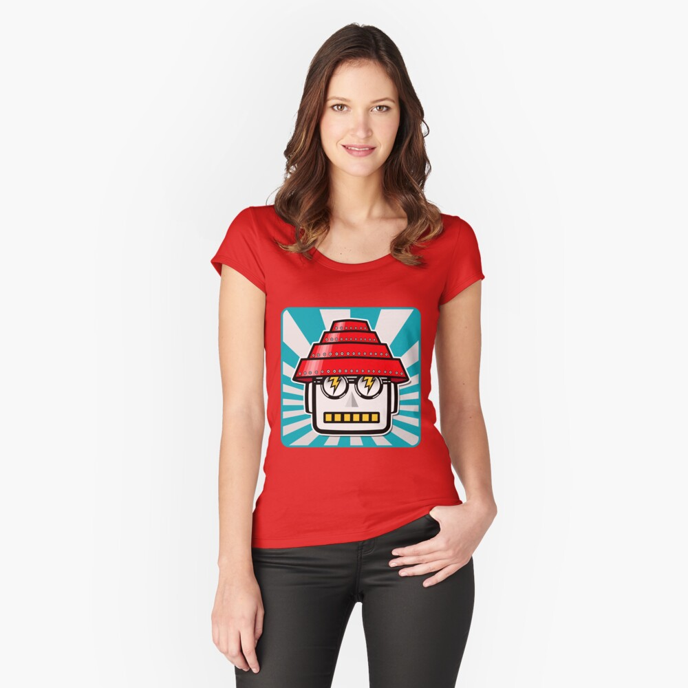 Devo Bots 004 Women's Fitted Scoop T-Shirt Front