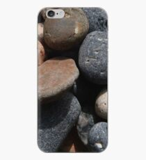 tumbling pebbles on a beach iPhone Case