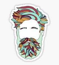 Rainbow Beard Sticker