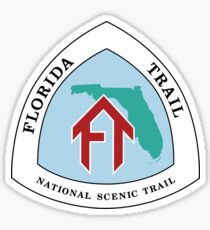Florida Trail Sign, USA Sticker