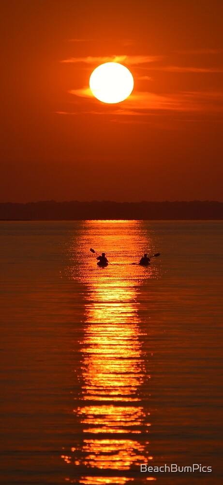 Sunset Kayakers by BeachBumPics