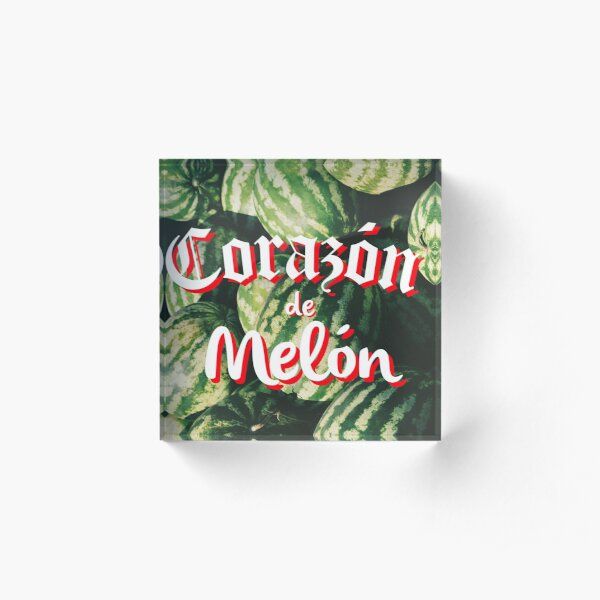 Corazon de Melon Bloque acrílico