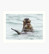 Two otters for the price of one Art Print