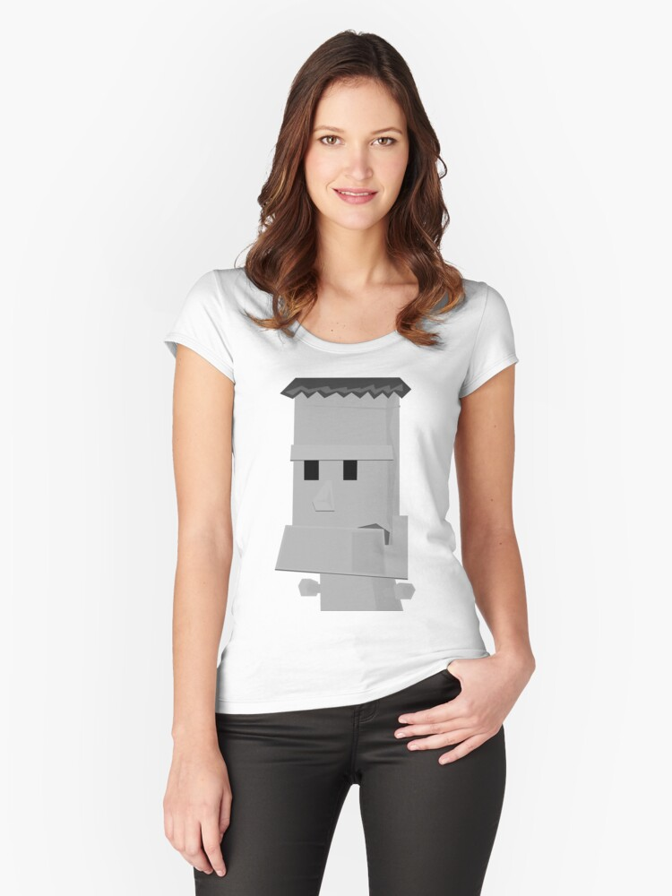 FrankenBot Women's Fitted Scoop T-Shirt Front