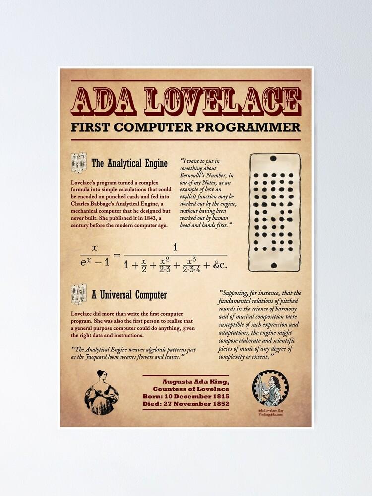 Alternate view of Ada Lovelace: First Computer Programmer Poster