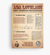 Ada Lovelace: First Computer Programmer Metal Print