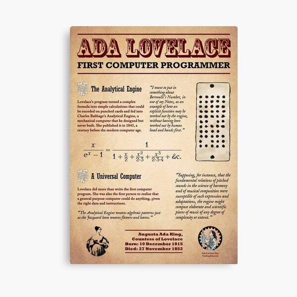 Ada Lovelace: First Computer Programmer Canvas Print